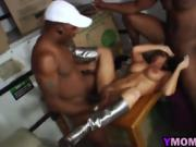 Nasty MILF Charged Extra By Delivery Black Guys