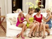 Four Totally Hot Babes Have A Lesbian Orgy