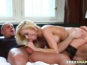 Blonde's happy ending massage