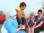 Boyfriend assists with hymen physical and fucking of virgin n