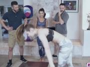 Teen Lily got banged by Devons dad hardly in many positions