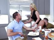 Incredibly hot Phoenix Marie fucking with stepson and daddy