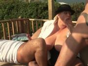 Sexy blonde Kirsten is fucked ass fucked in the gazebo