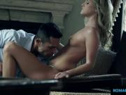 Guy cums all over her hot feet