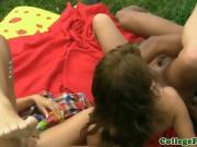 Sexy Babes Stephanie And Sarah Get Fucked At Picnic