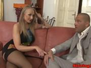 Russian glam babe pussy licked and facialized