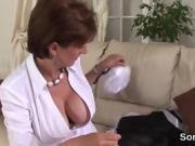Cheating british mature lady sonia exposes her huge boobs