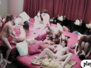 Married couples enjoyed huge nasty orgy in the red room