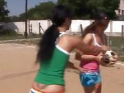 Canada lesbian Sporty munching each other