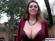 Amazing titty fuck by brunette busty hottie