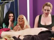 Three horny MILFs suck cock