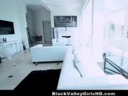 Mixed Race Ebony-Asian Babe Honey Gold Bounces On Big Cock