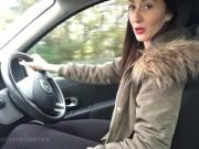 Your Cute Friend Teases As She Drives In Flip Flops