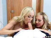 Charlie Sheen ex gf Brett Rossi 3some with Brandi Love