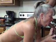 Camel Toe Kitchen - Milf Gets Facial from BBC