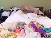 Blonde hotel threesome xxx Best pals together