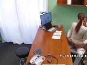 Super hot patient bangs doctor in office
