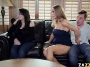Nicole Aniton gave Jessy Jones a hot blowjob