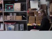 Poor shoplyfter Gracie May Green she need to suck a big cock