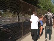 Innocent teen chick lured into interracial gangbang
