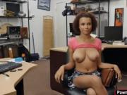 Ebony babe sucking dick within seconds