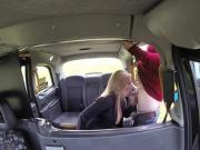 Filthy Holly Kiss gives a horny blowjob in the backseat