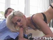 Hot blonde Nicole Vice doggystyle fuck
