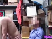 Gorgeous 19yo thief Zoey Clark gets screwed in security room