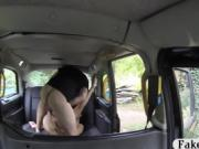 Big tits amateur tattooed woman nailed by fake driver