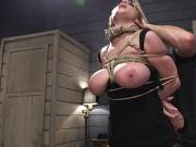 Tied up huge tits Milf anal banged