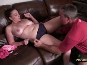 Daughter Melanie Wants Some Of DADDY's Cock