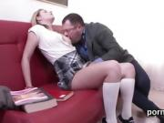 Fervid bookworm is seduced and penetrated by her senior tutor