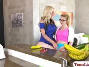 Horny blonde Haley gets fucked by her stepmum Alena Croft