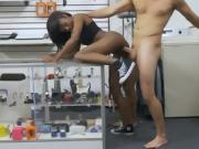 Black Beauty Lexxi Deep Getting Hammered In Pawn Shop Office