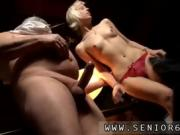 Slutty blonde MILF sucks the old man's thick cock