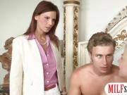 Syren Demer and Jessie Volt like anal threesome session