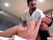 Hot busty babe Rachel Starr fucks a horny masseurs cock