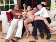 Raylin Ann fucked by three old men