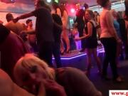 Real european babe facialized at sex party