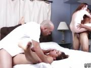 Teen bubble and beautiful pussy fuck The Dual playmate's