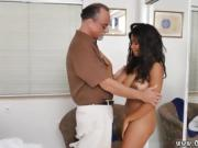 Old blonde teacher big tits first time Glenn finishes the job