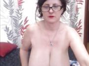 Milf With Amazing Big Natural Tits Masturbating
