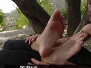 Harley Jade footjob outdoor