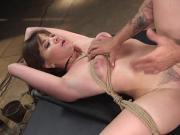 Hot ass brunette rides big dick