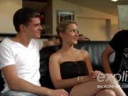 Celine Vega in a sexy trio