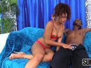 Saucy Ebony Chick Zoey Reyes Blows and Bangs a Big Black Cock