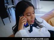 Busty Black Valley Teen Stunner Fucks Lucky White Guy