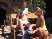 Secretary teen glasses girls do porn Kate & Tanya in the sun