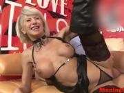 Horny big-titted cougar takes his cock in her fine ass