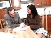 Horny coed gives her tutor the time of his life